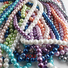 Wholesale Lots 111pcs Faux Pearl Glass Loose Bead 8mm Pick Colors