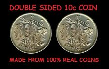 DOUBLE SIDED AUSTRALIAN 10 CENT COIN - Same Side Coin Double Head - Double Tail