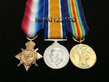 MINIATURE WW1 1914-15 STAR BWM & VICTORY MEDAL TRIO + MOUNTING OPTIONS