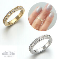 Swarovski Crystal 1 Row Line Over The Midi Tip Finger Above The Knuckle Ring