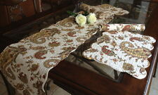 Paisley Quilted Cotton Table Runner and Placemats (set of 4)