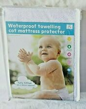 Baby/Child Cot Bed Mattress Waterproof Towelling Fitted Sheet Protector Cover