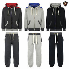 New Mens Semi Fashion TAMPA Full Fleece Zip Tracksuits - Hoodies Jogging Bottoms
