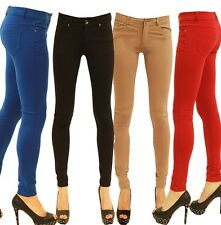 NEW WOMEN LADIES HIGH QUALITY SKINNY LEG STRACHY  JEGGINGS SIZE XS S M L XL