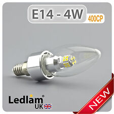 Ledlam E14 400CP 4W LED Candle Light Bulb - Chandelier Dimmable 40W equivalent