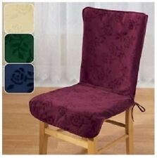Brand New High Back Chair Cover Slip Covers Cream Burgundy Blue and Green