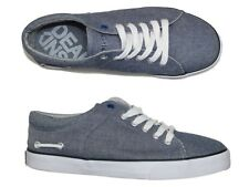 NEW MENS NICHOLAS DEAKINS VERNON PLIMSOLLS TRAINERS - LIGHT BLUE - ALL SIZES