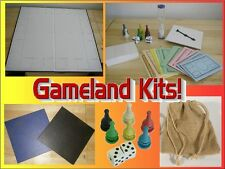 Blank Game Boards Framed Border w/ Game Piece Kits -Create Your Own Game Land!