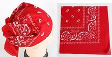 14 Colors to Choose From,100% Cotton Bandana Double Sided Head Wrap Biker Scarf
