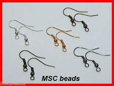 100 EAR RING Fish Hooks Wires Silver Gold Black Red Bronze Plated 17mm Ion Free