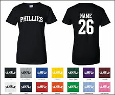 Phillies Custom Personalized Name & Number Woman's T-shirt