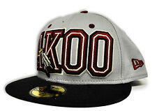 New Akoo Fitted Hat Newera Color Navy & Gray & Buruandy