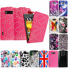 For LG Optimus L7 P700 Printed Designs PU Leather flip Case Cover Phone Pouch