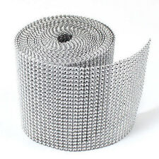 Rhinestone Ribbon/Diamond Wrap Mesh Sparkling Crystal Party Decor Craft 1 Roll
