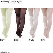 Ballet Dance Tights Pink Black White Ivory 30-40 Denier Economy Girls Womens
