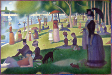 GEORGES SEURAT SUNDAY AFTERNOON  LANDSCAPE FINE CANVAS GICLEE PRINT