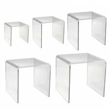 Clear Acrylic Retail Display Bridges & Stands Square - Choice of Size