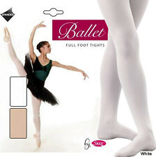 Pink Ballet Tights Girls Ladies Full Footed Dance Tights by Silky