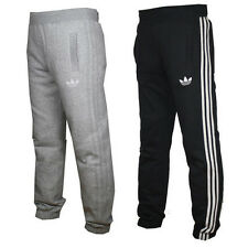 Adidas Originals Spo Fleece Track Pants Bottoms - Black & Grey