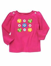 Gymboree NWT Showers of Flowers Embroidered Flower Long Sleeve Tee