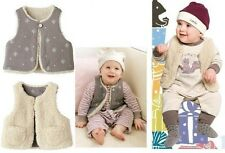 0-6 / 0-1 Baby Quality Vest - Kahki Colour Jacket Cardigan REVERSIBLE (FREE P&P)