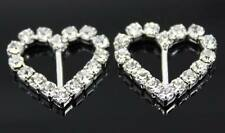 6mm Bar Wedding Invitation Rhinestone Heart Buckle Slider 14*11mm Free Shipping