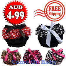 Toddlers Infant Baby Girl Satin Bow Ruffles Panties Bloomers Diaper Cover