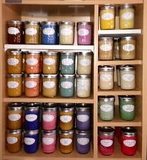 Assorted Manly Scented Soy Wax Candles in 8oz Jelly Jar = Highly Scented