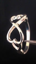SALE - 925 Silver Double Heart Ring - Free Shipping in U.S.A.