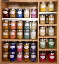 Assorted Summer Season Soy Wax Candles in 8oz Jelly Jar = Highly Scented