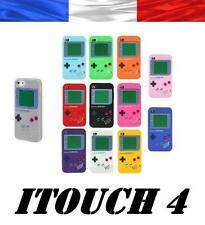 pour IPOD TOUCH 4 ITOUCH 4G COQUE ETUI HOUSSE SILICONE GAMEBOY AU CHOIX + FILM