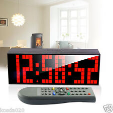Digital Big LED Alarm Clock Remote Control Countdown Stopwatch Electrical Snooze