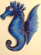 METAL WALL ART  SEAHORSES FISH CRABS DOLPHINS ASSORTED COLOURS