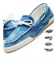 Fashion Mens Boat Casual Shoes Jeans Canvas Slip On Flats Loafer SB02