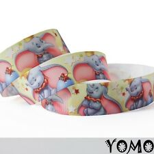 "1""25mm Lovely Elephant Printed grosgrain ribbon 10/50/100yards hairbow Wholesale"