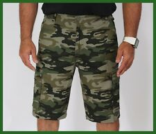 MEN'S CASUAL MILITARY CARGO HUNTING SHORTS ARMY GREEN CAMOUFLAGE SIZES 32 - 42