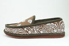 BROWN BANDANA HOUSE SHOES SLIPPERS NEW SIZE 13 14 15 Large Sizes