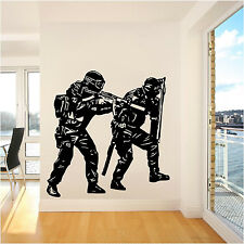 Wall  Removable VInyl Decal Sticker Kid Teen Room Police SWAT Team Soldier Army