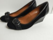 "Calvin Klein ""Sondra"" Pumps Black Leather New without Box"