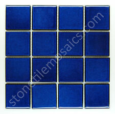"Square Pool Tiles - Premium Quality Porcelain Mosaic Tiles 3"" x  3"""