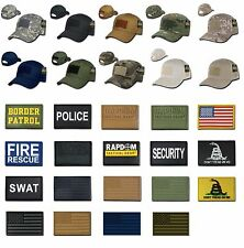 Tactical Constructed Operator Cap Hat with Velcro Hook & Loop for Patch T75 Rap