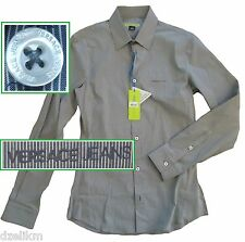 NWT Versace Jeans by Gianni Versace LOGO Micro Stripe Slim Fit Sport Shirt