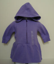BABY GAP GIRLS Long Sleeve Lilac Sweat Shirt Hoodie Dress Size 3-6 mosNWT