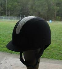 Equestrian Horse Riding Helmet all purpose Black Suede Microfibre all sizes !