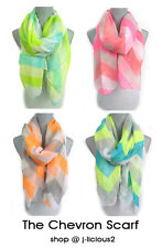 CHEVRON STRIPE WAVE SCARF lightweight colorful spring summer designer trend