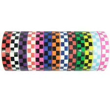 Silicone rubber wristband bracelet netruel colorful square boxes checks patterns