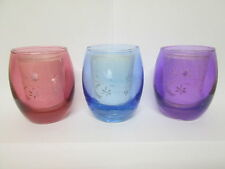 Double Layer TEALIGHT HOLDER - - - -  Elegant candle Glass gift present coloured