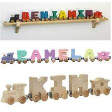 Maple Landmark Personalized Wall Mount NameTrain Set