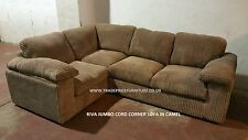 Riva Jumbo Fabric Cord Corner Group Sofa - 1Corner2 - Available In Many Colours