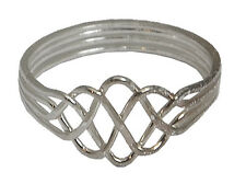 4 Band STERLING SILVER Puzzle Ring CHILDREN, ADULTS Sizes 3-12  #2545